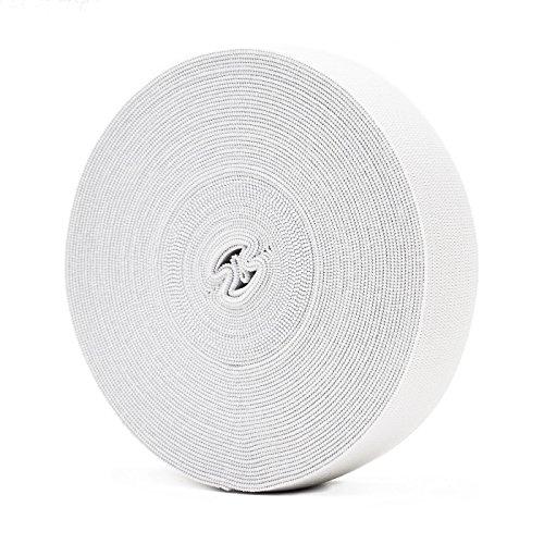 Vancool Weiß Gummiband Kleidung und Haushalt DIY Handwerk 10 Meter, 2,5cm in breit