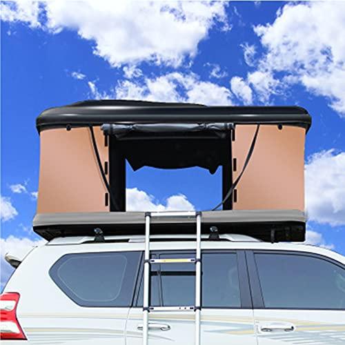 FASZFSAF 2-3 Personen Autodachzelt Hartschalen-Autodachzelt mit Klappleiter Aus Aluminiumlegierung, GrüN + Schwarz, Regensicher und Warm, Selbstfahrende Tourenzelte,Black Shell,3