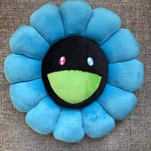 GWCYY Sunflower Rainbow Rainbow Fluffy Toy Suelo Sofá Coche doméstico Decorativo Azul Azul 60 cm