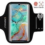 PORTHOLIC Schweißfest Sportarmband Handy Fitness für Galaxy S10 A50 Huawei P30 P20 Mate 20 Pro, Schlüsselhalter, Kartensteckplatz, Kopfhörerloch, für Handy Bis zu 6,9