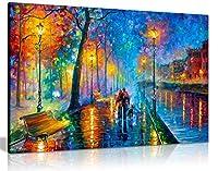 Leonid Afremov 抽象油絵 キャンバスウォールアート ピクチャープリント ホームデコレーション 76x51 cm (30x20in) 5056331703214