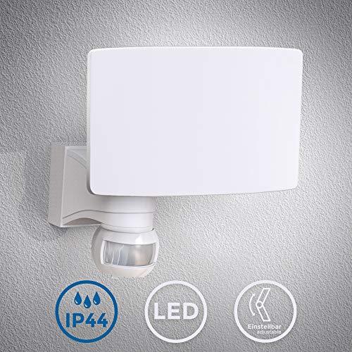 LED Wandleuchte | Fluter mit Bewegungsmelder | Außenleuchte | Wandlampe | weiß | inkl. 20W LED Platine | 2300lm | 4000K neutralweiß | IP44