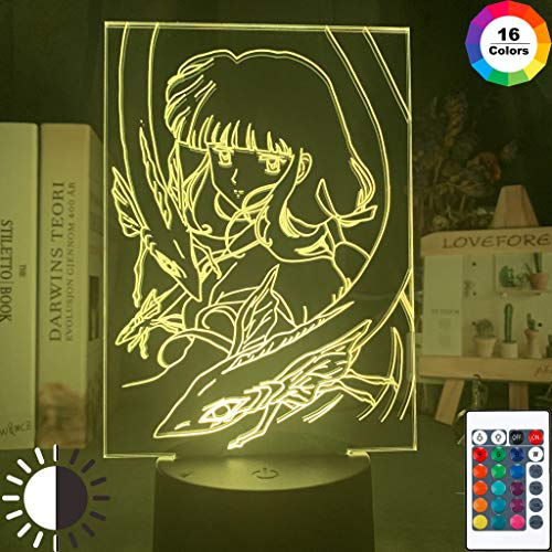 Anime Inuyasha Kikyo Figur Mädchen Coole 3D LED Nachtlicht USB Tischlampe Kinder Geburtstag Geschenk Nachtdekoration am Bett