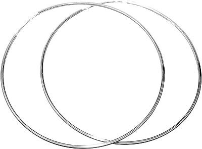 Orecchini cerchi grandi 6 cm argento Sterling 925 rodiato