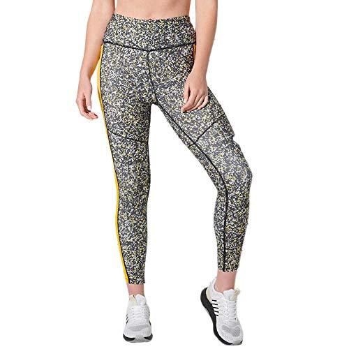 Superdry Training 7/8 Leggings, Impresión de Ruido Blanco, 42 para Mujer