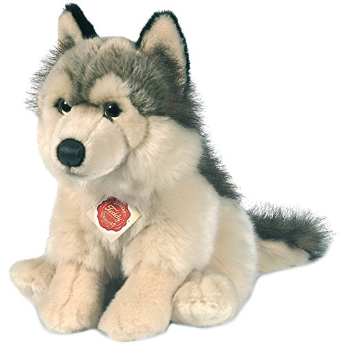 Hermann Teddy Collection 927389 - Plüsch-Wolf sitzend, 29 cm