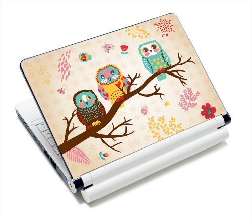 Three Owls Fashion Netbook Laptop Skin Sticker Reusable Protector Cover Case for 11.6 12.1 13 13.3 14 15 15.4 15.6 Inch Apple Acer Asus Toshiba Hp Samsung Dell Leonovo Sony Laptop YNEK-125