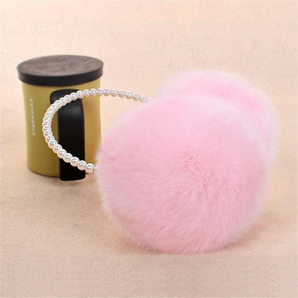 ZYXLN-Earmuffs ,Women Girls Winter Fluffy Plush Earmuffs Imitation Pearl Beaded Headband Cold Weather Earmuffs Earmuffs Winter Outdoor Earmuffs Warm Earmuffs (Color : Pink)