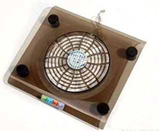 Hexiaoyi Notebook Stand Aluminum Alloy Heat Sink Ultrabook Notebook Cooling Base Adjustment with Fan Color : Silver