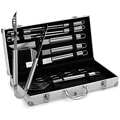 Best Grill Tool Set: VonHaus 18-Piece Stainless Steel