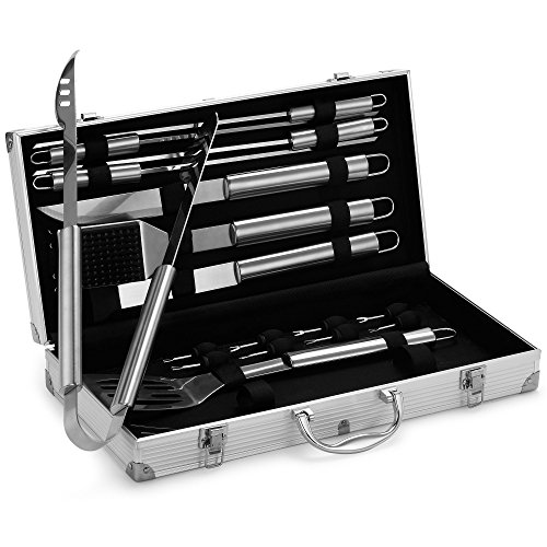 18 Piece Stainless Steel BBQ Tool Set