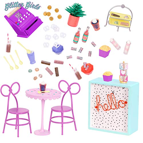 Glitter Girls by Battat – GG Sweet Shop Terrace – Patio Furniture Set For 14' Dolls - Toys, Clothes & Accessories For Girls 3-Year-Old & Up