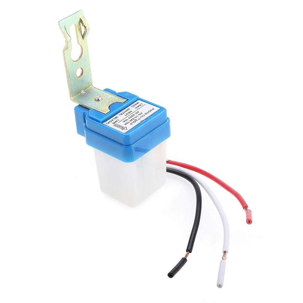 狂った静けさ朝1個のスイッチ自動オートオフオン街灯写真コントロールセンサースイッチAC 220V 10Aスイッチ (サイズ : 50-60Hz)