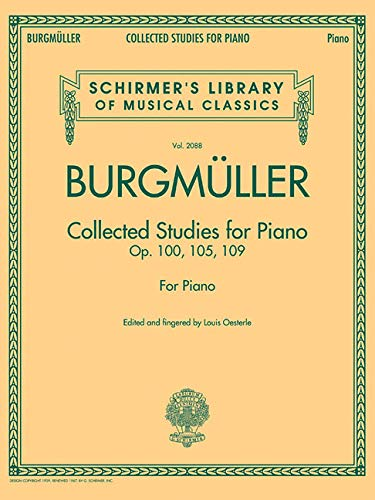 Collected Studies For Piano - Op.100, Op.105, Op.109: Noten für Klavier: Schirmer Library of Classics Volume 2088 (Schirmer's Library of Musical Classics)