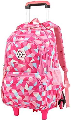 VBG VBIGER Rolling Backpack for Girls Wheeled Backpack Trolley School Bag Travel Luggage product image