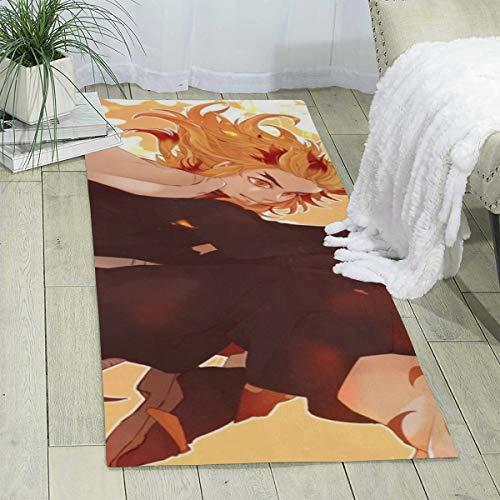 Alfombra Demon Slayer para salón, dormitorio, balcón, estudio, alfombra supersuave, 180 x 60 cm