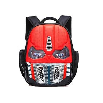 Alipher School Backpack Waterproof Kids Backpack Comic School Bag Student Bookbag Transformers Small Size Red