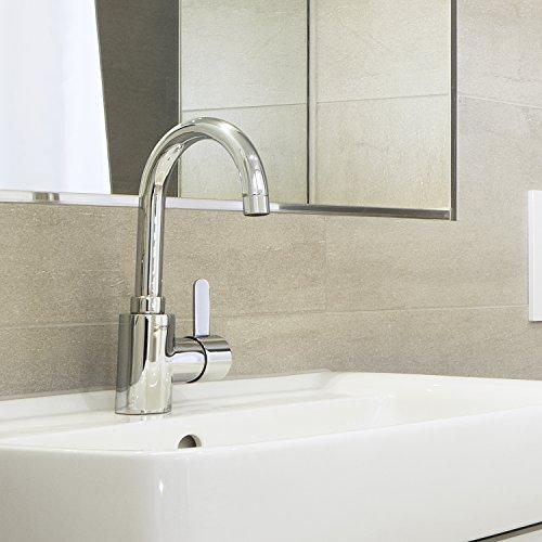Grohe Eurosmart Cosmopolitan Waschtischarmatur, mit Zugstange, hoher Auslauf, Schwenkbereich 100°,Wasserhahn, Armatur, Waschtischarmatur, Waschbecken, Mischbatterie, Wasserkran (32830000) - 4