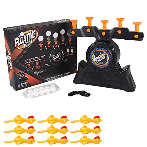 MasteriOne Hover Zielscheibe Spielspaß mit 5 beweglichen Zielen Floating Target Game Floating Ball Shooting Game Hover Shooting Floating Target Ausgestattet mit 9 Ejection Chicks