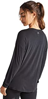 Rockwear Activewear Women's Drape Front Top Black 6 from Size 4-18 for