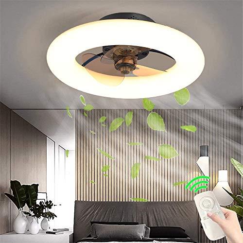 GUANGE LED Ventilador Luz de Techo Ventilador de Techo Moderno Regulable Luz de Techo con Ventilador Ultra Silencioso 96W Ventilador de Dormitorio Invisible con Luz, 3000-6000K