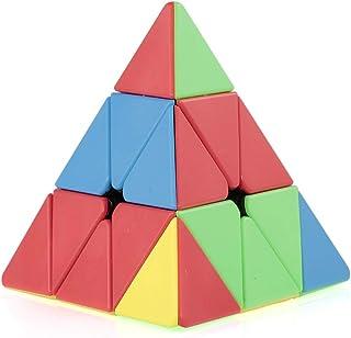 Goolsky Magic Cube Pyraminx Speed Cube Triangle Magic Cube Pyramid Stickerless Cube Puzzle Cube for Beginners Kids