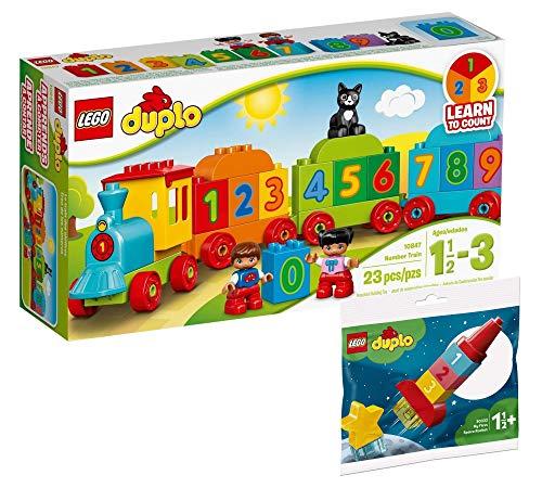 Collectix Lego Set Duplo 10847 + Duplo Mi primer cohete espacial 30322 (bolsa de polietileno), para niños a partir de 18 meses