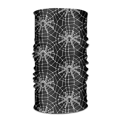 dingjiakemao Black Spider Web Pattern Versatile Outdoors Daily Stylish Headwear Multifunctional Sport Headband Sweatband,Magic Scarf,Head Wrap,Neck Gaiter,Bandana,Helmet Liner, Balaclava,Tube Mask