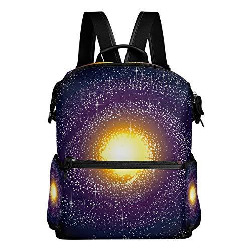 TIZORAX Spiral Galaxy Voie lactée Sac à Dos d'école College Sacs Sac à Dos Bookbags pour Teen garçons Filles