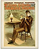 Lone Star Art Sherlock Holmes Theatre Print - 11x14 Unframed Print - Great Vintage Decor and Gift for Sir Arthur Conan Doyle Fans Under $15
