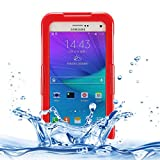 Accesorios para teléfonos móviles y artículos para IPX8 TPU + PC Estuche Protector Impermeable con cordón for Galaxy Note 5 / N920 (Negro), Simple, cómodo, fácil de Transportar. (Color : Red)