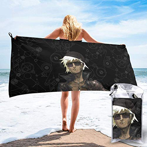 Meili Anime Game Steins;Gate Quick Dry Bath Towel Microfiber Portable Travel Sports Towel for CampingHiking Beach Sports