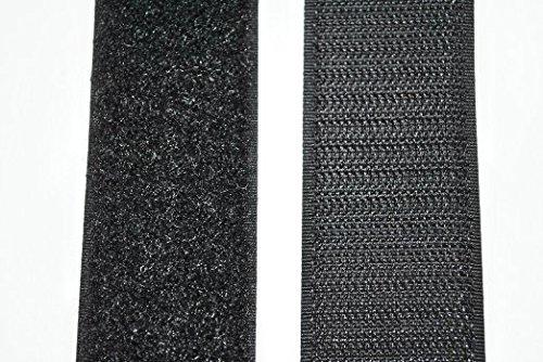 SAN Klettband schwarz 100 mm breit 1 Meter Klettverschluss Hakenband und 1 Meter Flauschband