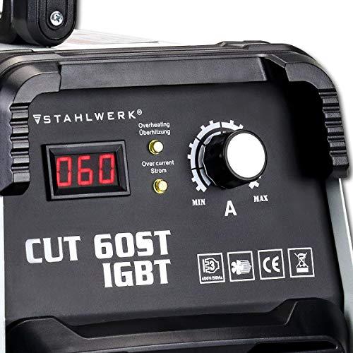 STAHLWERK CUT 60 ST IGBT Plasmaschneider mit 60 Ampere bis 24mm Schneidleistung für Lackierte Bleche und Flugrost geeignet 7 Jahre Herstellergarantie - 2