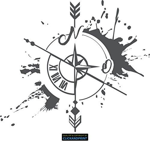 CLICKANDPRINT Aufkleber » Weg und Zeit, 30x26,3cm, Dunkelgrau • Wandtattoo/Wandaufkleber/Wandsticker/Wanddeko/Vinyl