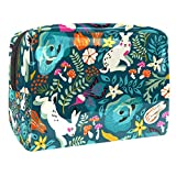 Bolsas Mujer Viaje Cosmeticos Neceseres Toiletry Bag Seta Conejo Zanahoria Portátil y Impermeable Material de PVC 7.3x3x5.1 Inch