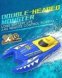 YLEI 2.4 Ghz Langlebige wasserdichte RC Boot, Ferngesteuertes Boot für Pools und Seen, mit Wiederaufladbare Akku, tolles Spielzeuggeschenk für Erwachsene, Kinder