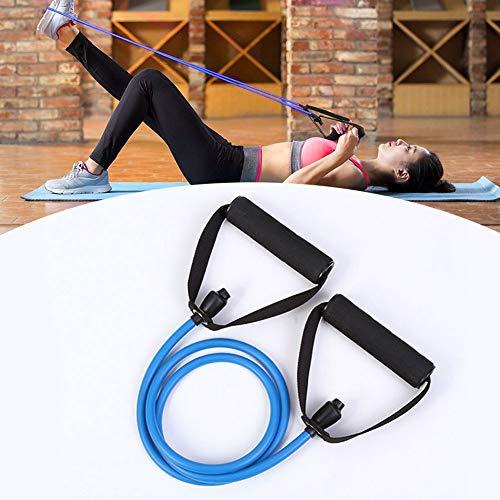 HeTaiDa Fitnessbänder Tubes mit Griffen, Resistance Bands 15-20 lb Strecken Expander, Gymnastikbänder für Muskeltraining Yoga Pilates Fitness Rehabilitation für Männer & Frauen