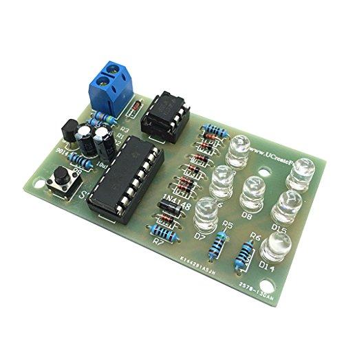Gazechimp Diy Kits LEDs Elektronische 4.5-5v Dice Würfel Modul Elektronische Training Diy Kit