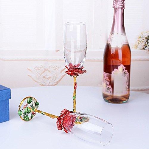 JARONG La Coupe De Champagne, Vin Rouge De L'Émail Et Tasse Gobelets Accueil