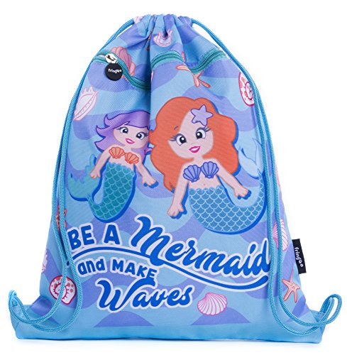 FRINGOO® Kinderen tas met trekkoord aan de voorkant zak PE Kit tas schoolrugzak