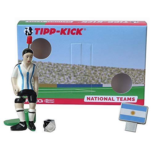 TIPP-KICK Argentinien-Box I Original Set Argentinien-Star-Kicker & Argentinien-Soundchip in der Torwandbox I Figur Spiel I Zubehör