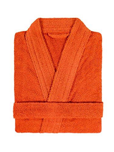 LASA Home Bademantel Größe XL, Collection Pure Kimono, Baumwolle, Orange, 140x 48x 1cm