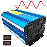Cantonape Pure Sine Wave Power Inverter 2500W/5000W(Surge) Power DC 12V to 110V AC with LED Display