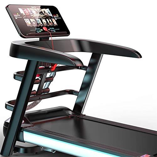 Sikungjlk Motorisiertes Laufband Professionelle Laufband Video Events & Multiplayer APP Via LCD-Monitor-Smartphone kompatibel 4PS 16km / h Indoor-Trainingsgeräte für zu Hause und im Büro