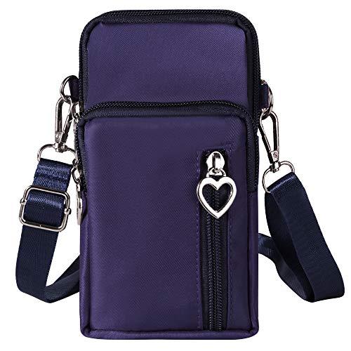 Damen Oxford Handtasche für LG Stylo 5 / Stylo 4 Plus/LG V50 ThinQ / V40 ThinQ / V35 ThinQ / V30 / LG G7 G6 / OnePlus 7 Pro / 7/6 / 6T, blau