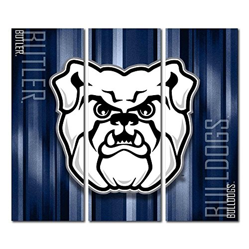 Victory Tailgate Butler University Bulldogs Triptych Canvas Wall Art Rush (48x54 inches) image
