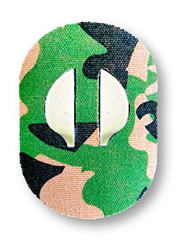 FixTape atmungsaktives Sensor-Tape für Medtronic Enlite I selbstklebendes Patch für Glukose-Sensor mit hohem Trage-Komfort I hautfreundlich und wasserfest in modernen Designs I 7 Stück (Dschungel)