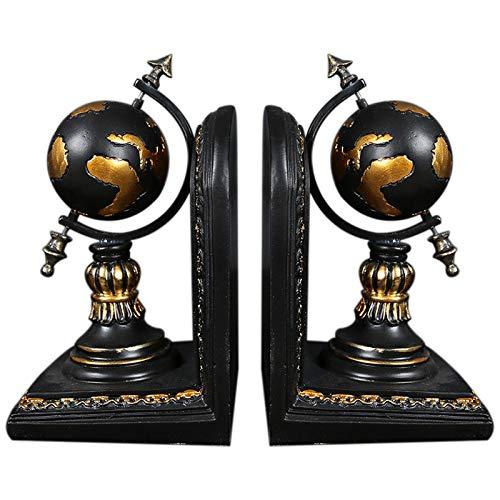 Gaoominy Amerikanischen Globus Buchstütze Harz Figuren Retro Globus Buch Stand Modell Miniatur Ornamente Kreatives Handwerk Haushalts Dekor