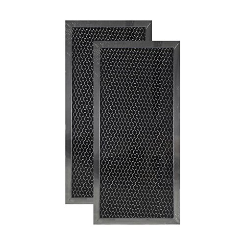 2 Pack Air Filter Factory Compatible Replacement For Whirlpool 4393791 Above Door Behind Vent Microwave Charcoal Filter 5.75 x 12.25 x .37 Inches